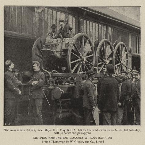 Shipping Ammunition Waggons at Southampton