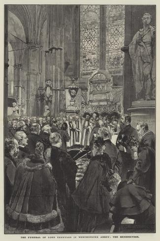 The Funeral of Lord Tennyson in Westminster Abbey, the Benediction