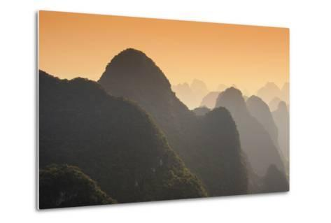China 10MKm2 Collection - Karst Mountains at sunset - Yangshuo Art sur métal