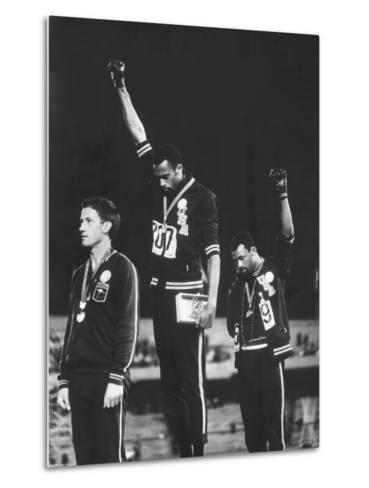 Black Power Salute, 1968 Mexico City Olympics Metalltrykk