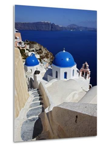 Oia, Santorini, Greece Metal Print
