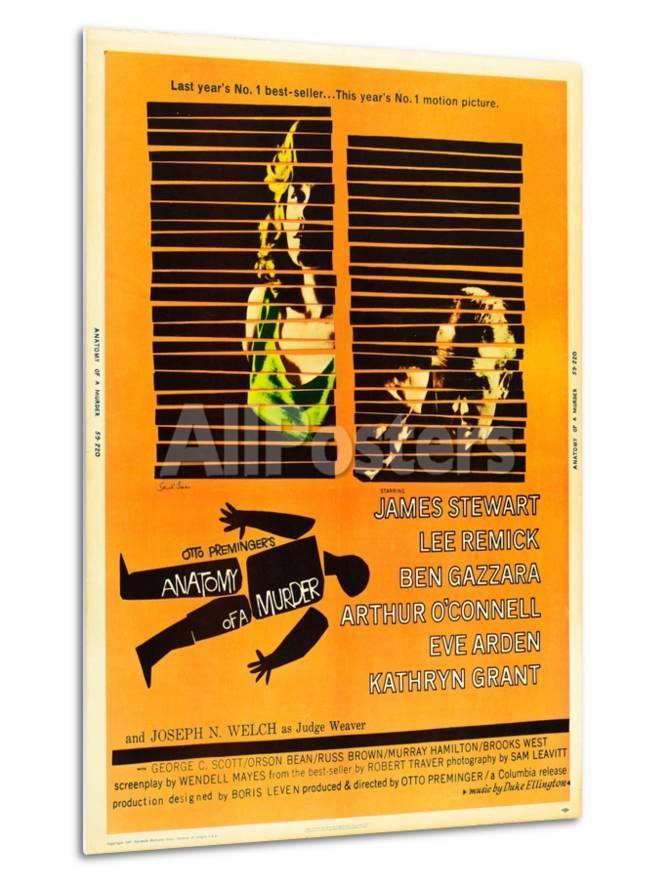 Anatomy of a Murder, Lee Remick, James Stewart on U.S. poster art ...