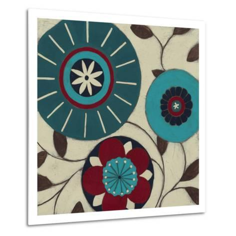 Blue Blossom Fresco I Metal Print