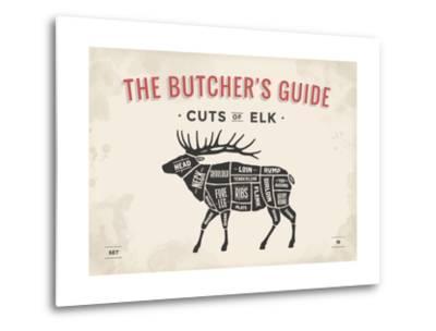 cut of meat butcher diagram elk posters by foxysgraphic atcut of meat butcher diagram elk posters by foxysgraphic at allposters com