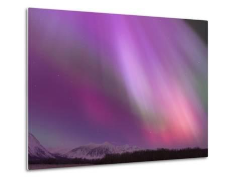 Aurora Borealis, Wrangell Mountains, Alaska, USA Metal Print