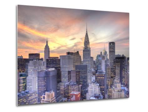 Midtown Skyline with Chrysler Building and Empire State Building, Manhattan, New York City, USA Metal Print