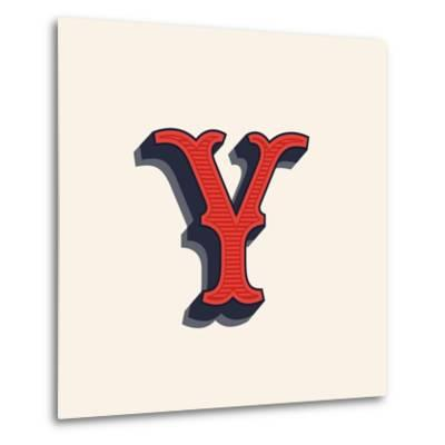 Y Letter Logo in Vintage Western Style  Vector Font for Labels, Posters Etc