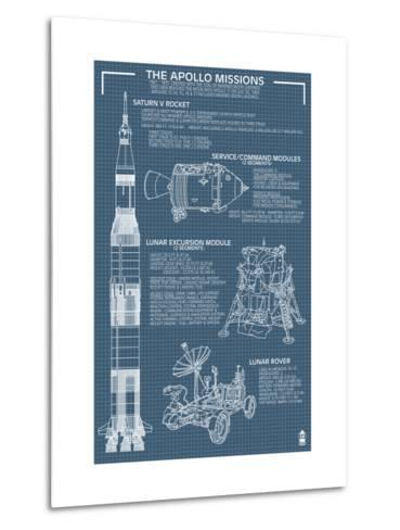 Apollo missions blueprint poster metal print by lantern press apollo missions blueprint poster malvernweather Gallery