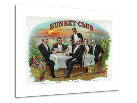Sunset Club Brand Cigar Box Label Metal Print