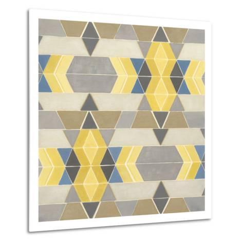 Blue and Yellow Geometry I Metal Print