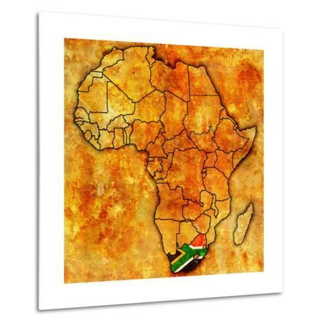 South Africa on Actual Map of Africa Metal Print