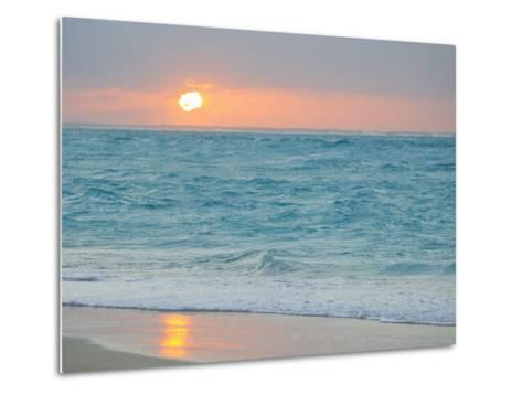 Sunset in Paradise over the Caribbean and on a Beach Metal Print