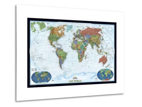 World political map decorator style metal print by national world political map decorator style gumiabroncs Choice Image
