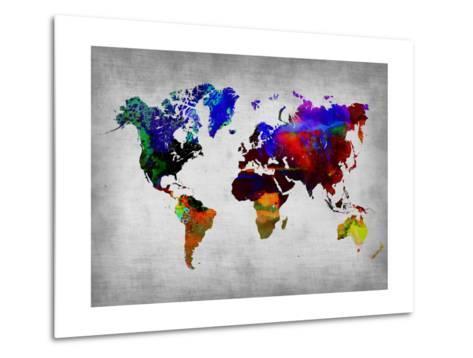 World Watercolor Map 12 Metal Print