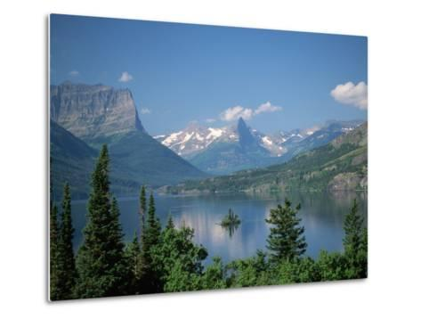 Lake Below Glaciated Peaks Metal Print