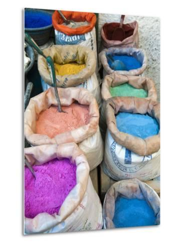 Pigments and Spices for Sale, Medina, Tetouan, UNESCO World Heritage Site, Morocco, North Africa, A Metal Print