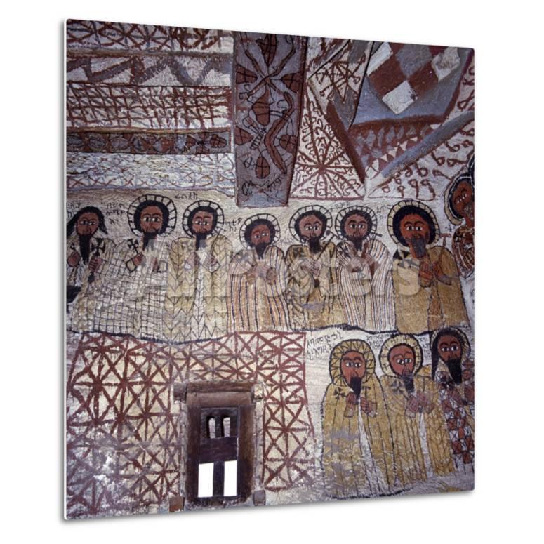 Fine Murals Decorate Interior Of Rock Hewn Church Yohannes Maequddi