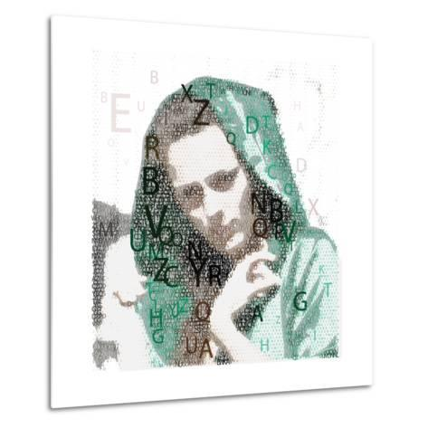 Urban Female Made from Letters Metal Print