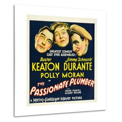 THE PASSIONATE PLUMBER, from left: Buster Keaton, Polly Moran, Jimmy Durante, 1932. Metal Print
