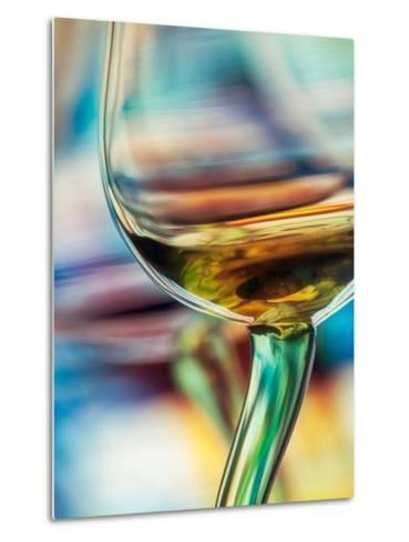 White Wine Metal Print
