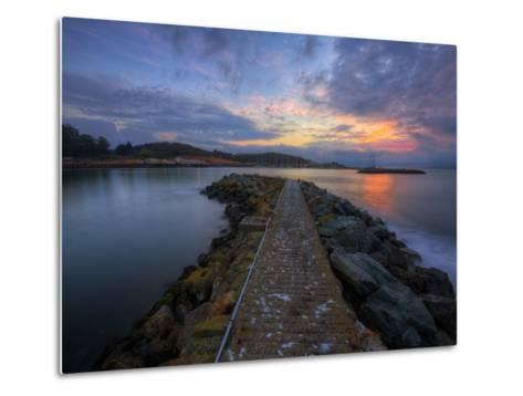 Sunrise Pier at Fort Baker, Sausalito California Metal Print