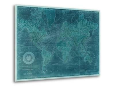Azure World Map Posters by Vision Studio at AllPosters.com