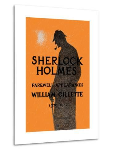 William Gillette as Sherlock Holmes: Farewell Appearance Metal Print