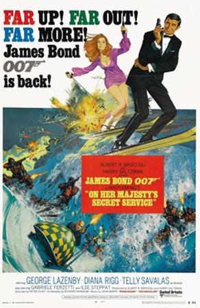 """007, James Bond: On Her Majesty's Secret Service"" 1969, Directed by Peter Hunt"