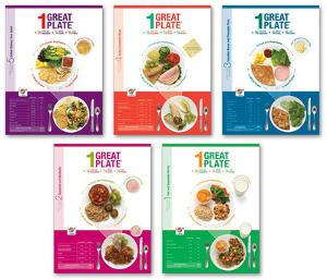 1 Great Plate® Mixed Dish Educational Laminated Poster Set