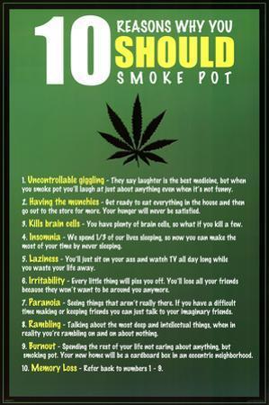 10 Reasons to Smoke Pot Marijuana