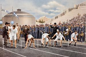 100 m Race at Olympic Games in Athens 1896