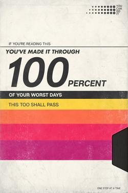 100 Percent Of Your Worst Days - VHS Tape