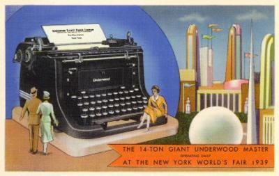 14-Ton Typewriter, New York World's Fair, 1939
