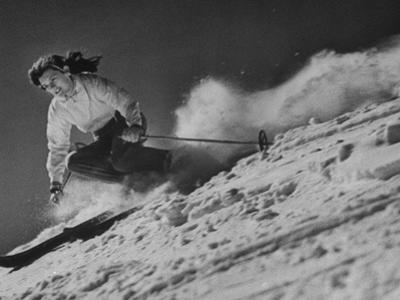 15-Year Old Skiing Prodigy Andrea Mead Lawrence Practicing for Winter Olympics