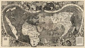 1507, World, First Map of America