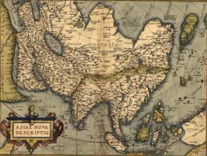 1570 Map of Asia, from Abraham Ortelius' Atlas