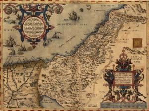 1570 Map of Palestine, from Abraham Ortelius' Atlas