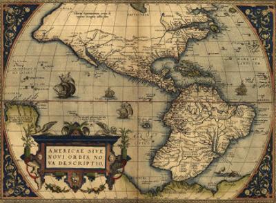 1570 Map of the Western Hemisphere. from Abraham Ortelius, Theatrvm Orbis Terrarvm