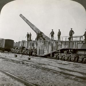 16 Inch Railway Gun Which Pulverised the Hindenburg Line, World War I, France, 1917-1918