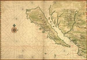 1650 Map of Baja California and Northwest Mexico, Showing California as an Island