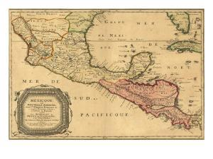 1656 Map of Central America and Mexico, Showing Many Modern Place Names and Boundaries