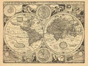 World maps framed art for sale at allposters 1676 world gumiabroncs Choice Image