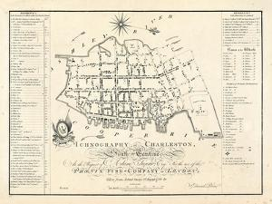 1788, Charleston Ichnography Map, South Carolina, United States