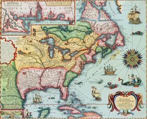 17Th-Century Map of North America