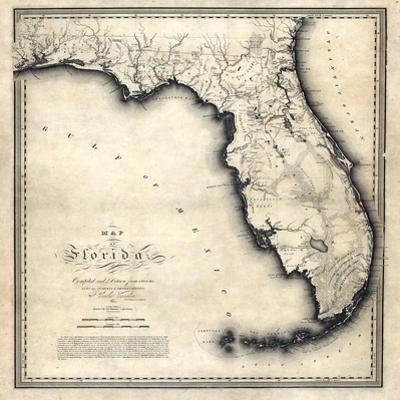 Map Of Florida State.Affordable Maps Of Florida Posters For Sale At Allposters Com