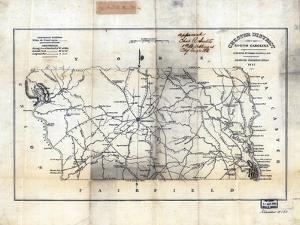 1825, Chester District surveyed 1818, South Carolina, United States