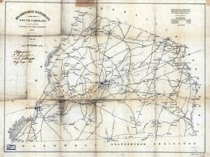 1825, Edgefield District surveyed 1817, South Carolina, United States