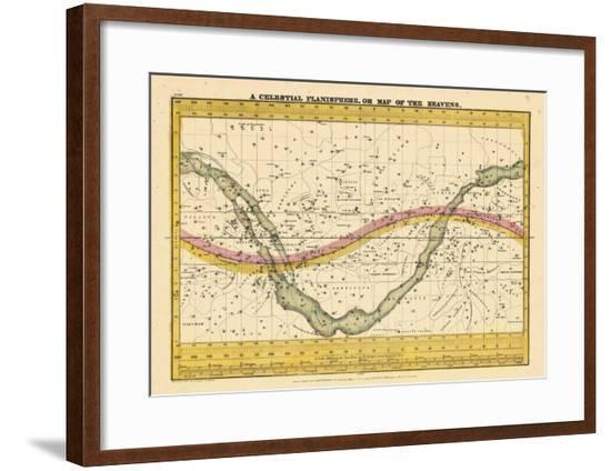 1835, Map of the Heavens--Framed Giclee Print