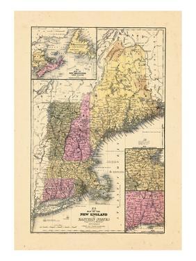 1844, New England, Connecticut, Maine, Massachusetts, New Hampshire, Rhode Island, Vermont