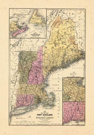 1844, New England, Connecticut, Maine, Massachusetts, New Hampshire, Rhode Island, Vermont